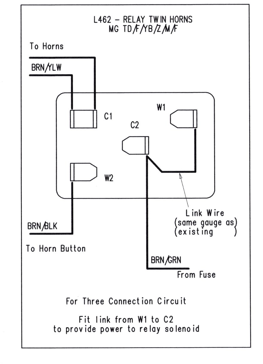 Wiring Diagram Twin Horns : L relay twin horns